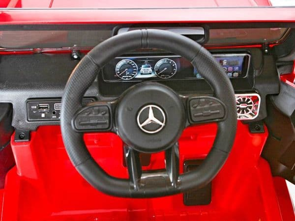 Mercedes Benz G63 AMG Jeep Red | Kids Sit On & Ride In Toy Car 12v Electric | TOYSHOPUK